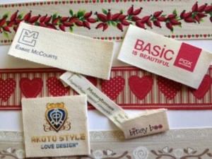 100% Organic Cotton Clothes Labels