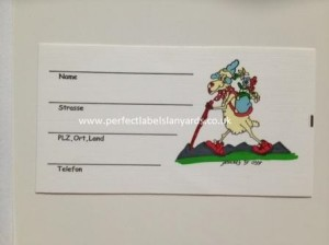 Personalised address labels