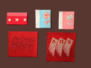 Red Metallic Clothing Labels