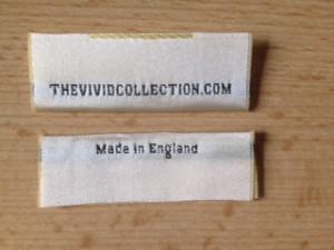 Satin Silk Cushion Labels