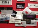 Designer woven labels for fashion clothes