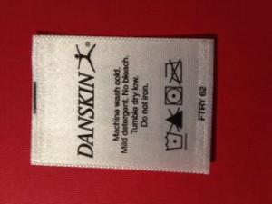 Printed Satin Care Label