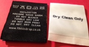 Woven Care Labels for clothing